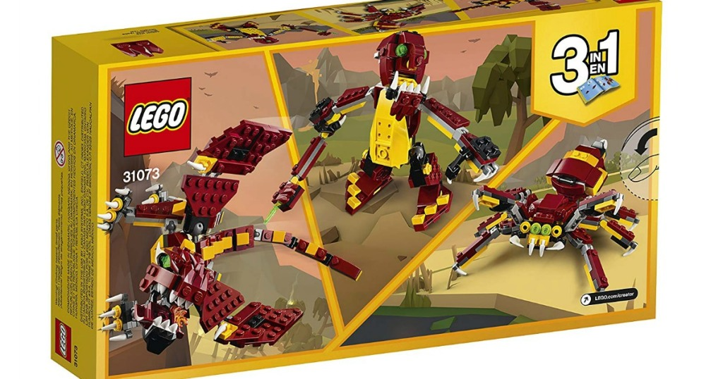 LEGO box showing mythical creatures