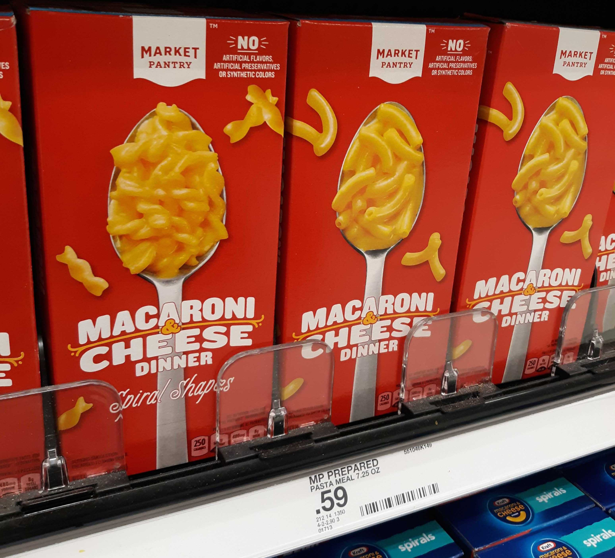 Market Pantry macaroni and cheese boxes at Target