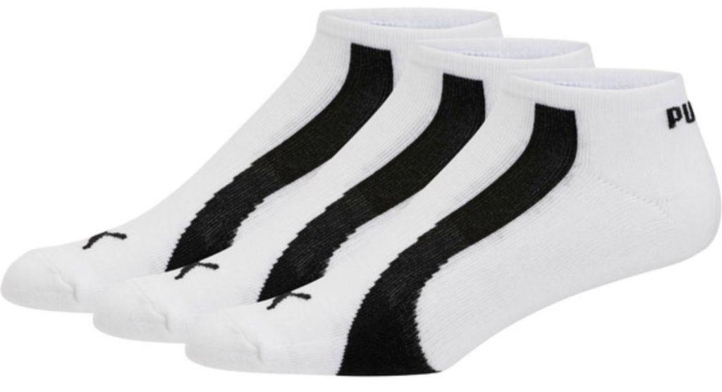 mens white No Show Bamboo Socks puma
