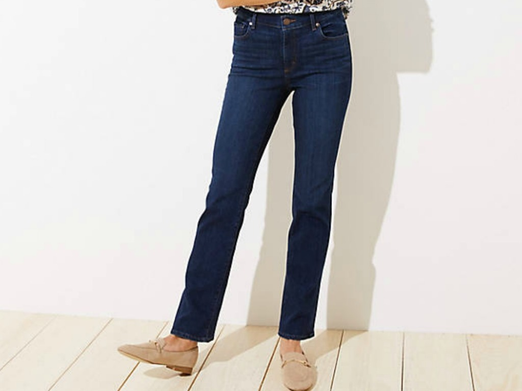 woman's legs in a pair of jeans