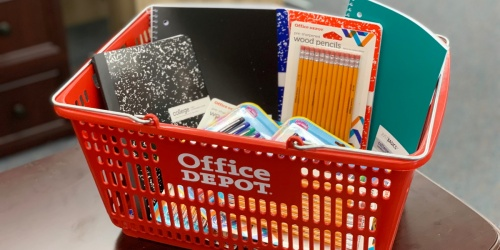 Office Depot School Supply Deals Starting 7/21 (10¢ Notebooks, 50¢ Index Cards & More)