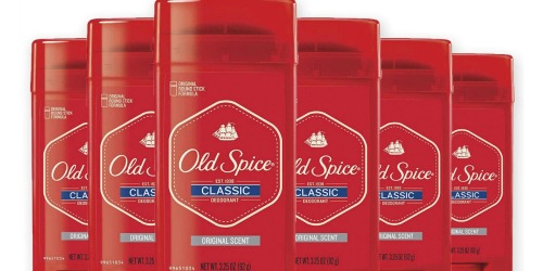 Old Spice Classic Deodorant 6-Pack Just $10.47 at Amazon (Only $1.75 Each)