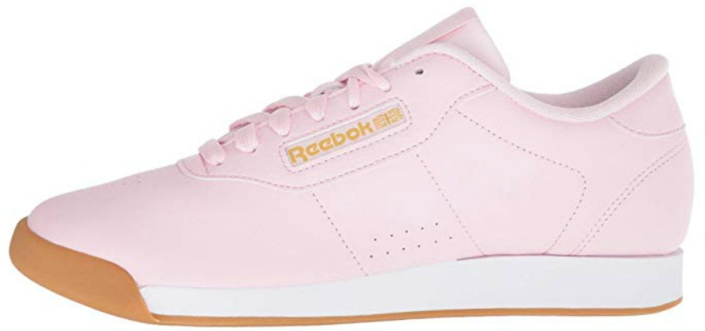 pink and gold reebok shoes