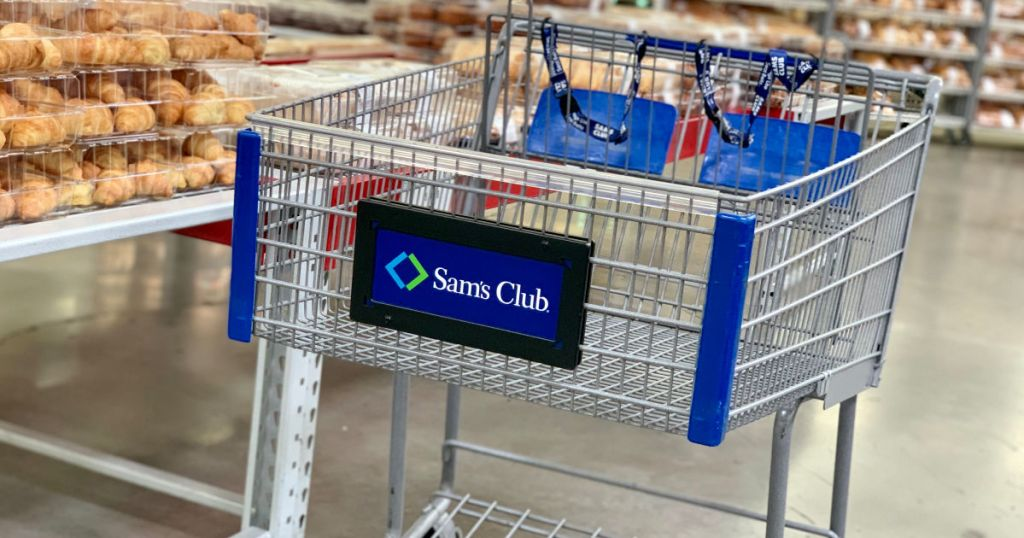 sams club cart in bakery in store