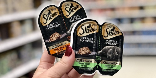 Sheba Wet Cat Food Twin Pack Trays 18-Count Only $13.68 Shipped | Just 38¢ Per Serving