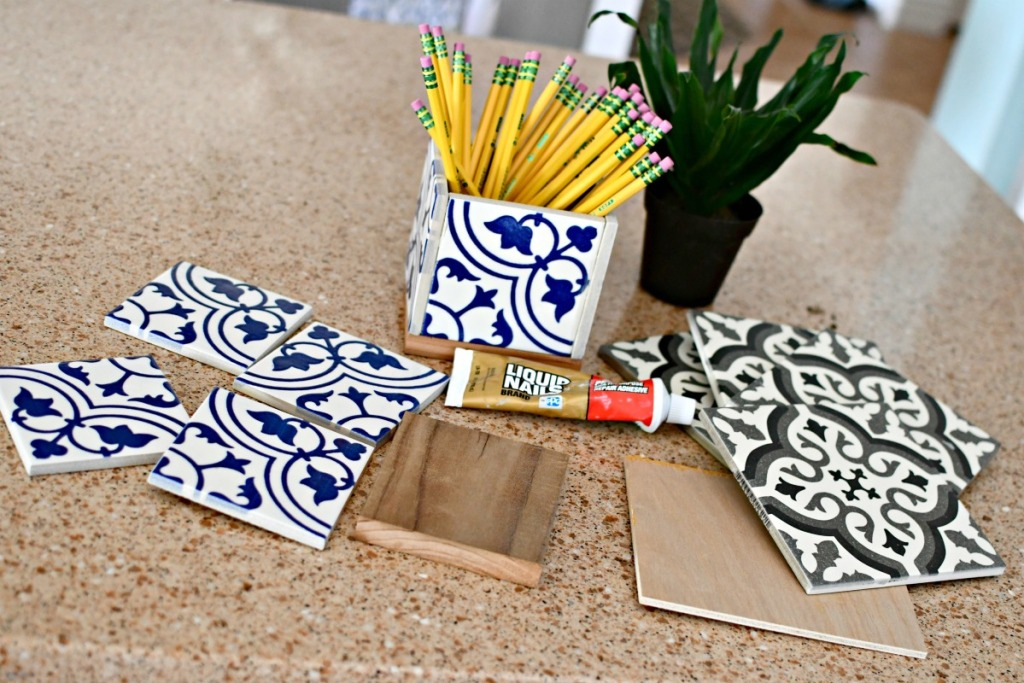 spanish ceramic tiles on the counter