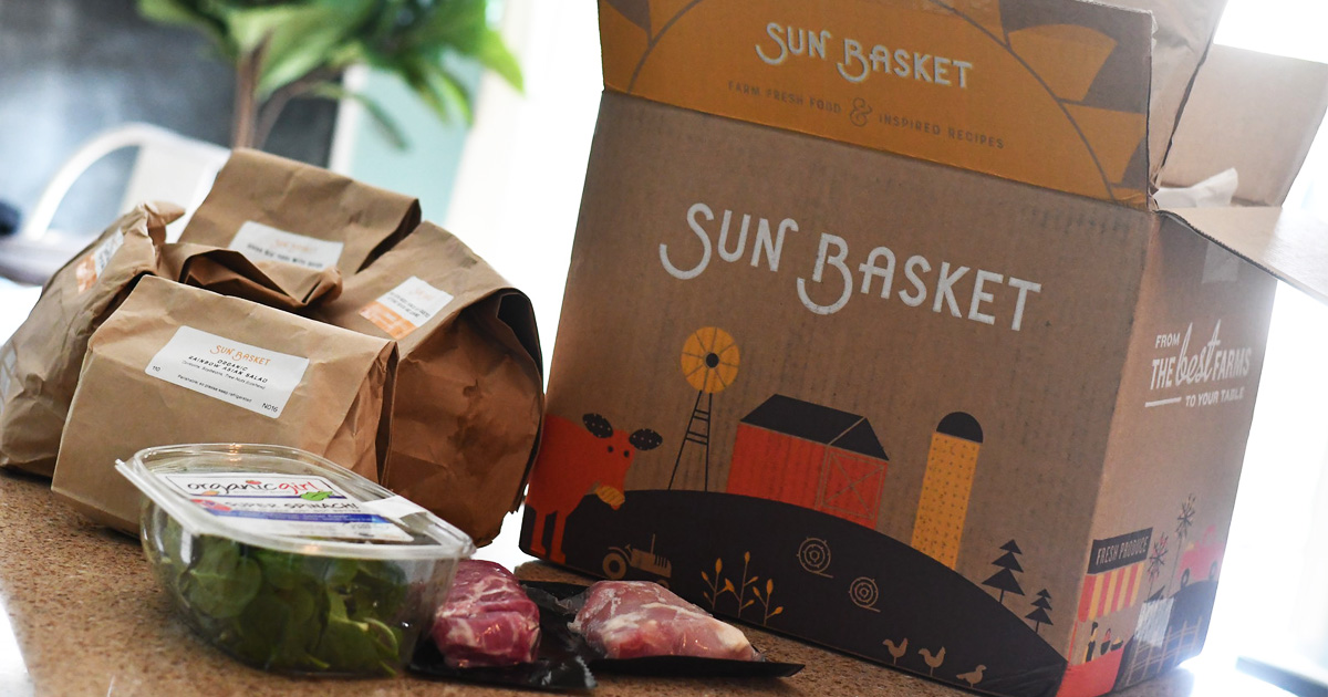 sun basket dinner meal kit
