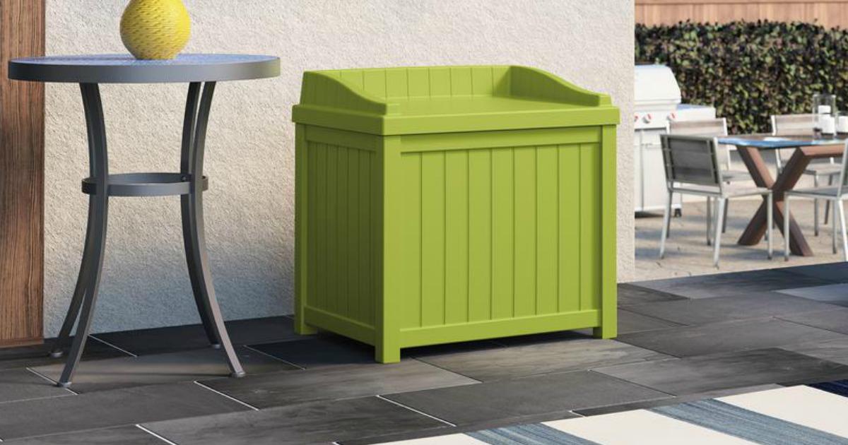 lime green deck storage box