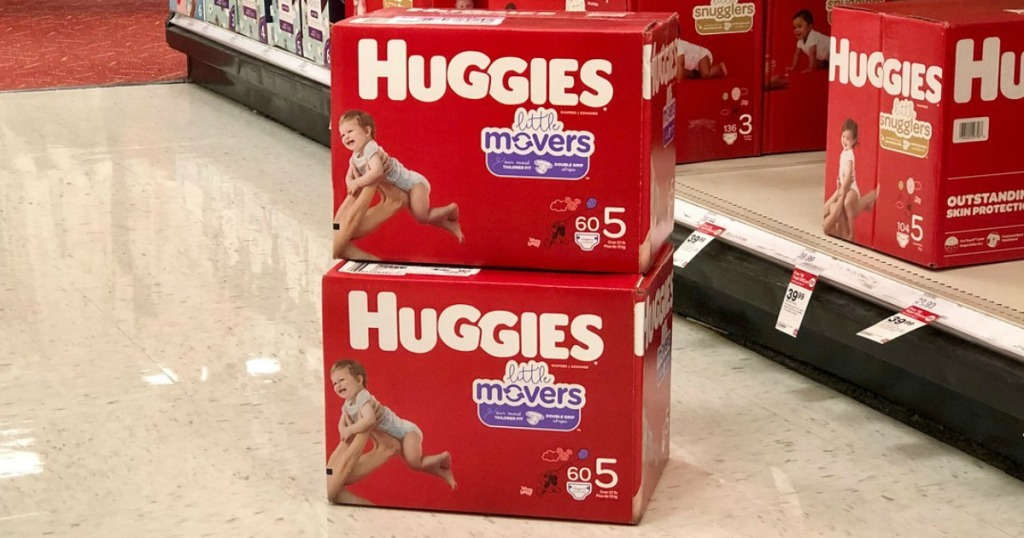 huggies little movers diapers at target