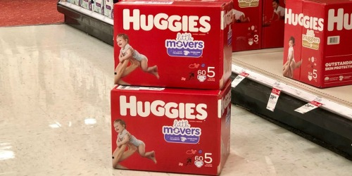 THREE New Huggies Coupons = Super Packs as Low as $14.99 Each After Target Gift Card