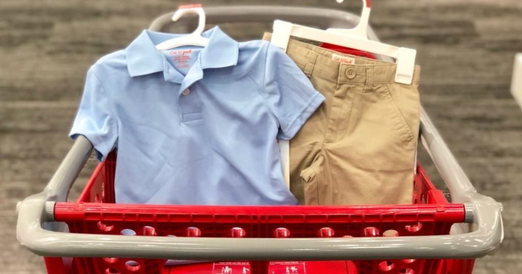 cat & jack school uniform polo and shorts at target