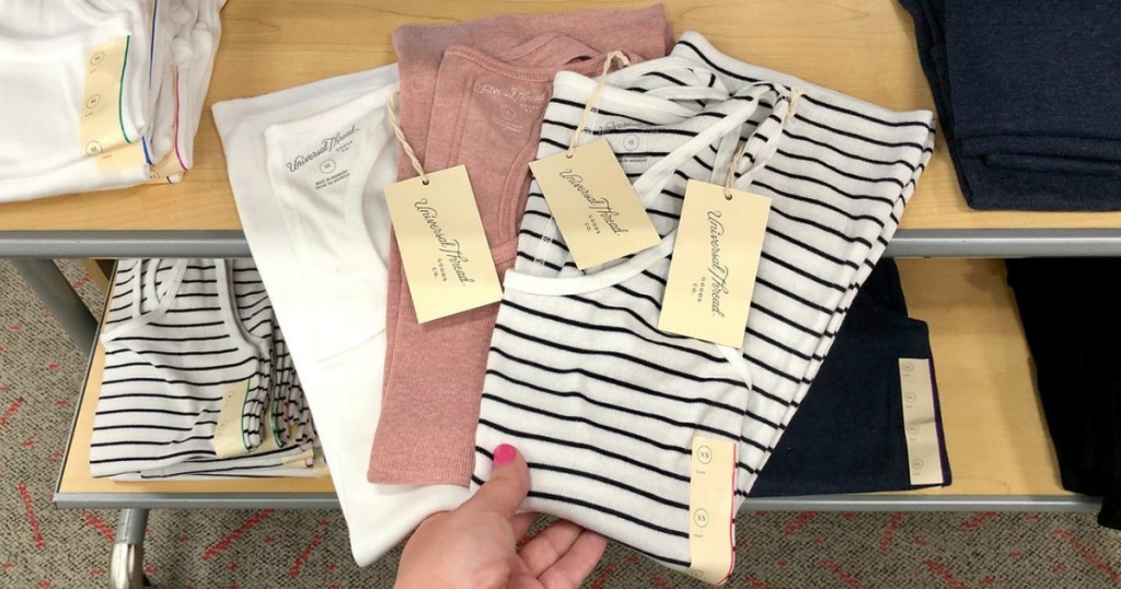 hand holding universal thread tank tops at target