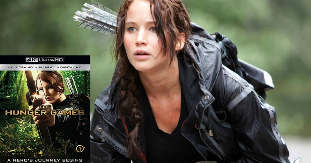 hunger games dvd and screen shot of movie