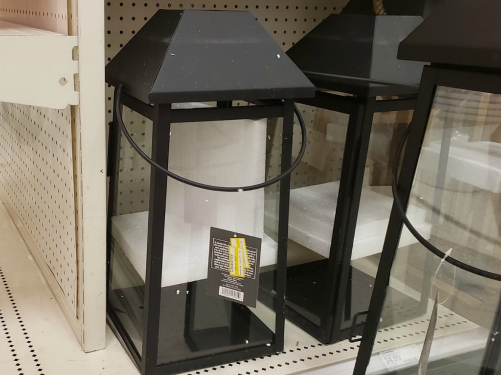 black lantern on store shelf