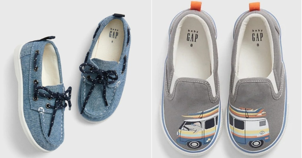 toddler gap boat shoes and bus shoes