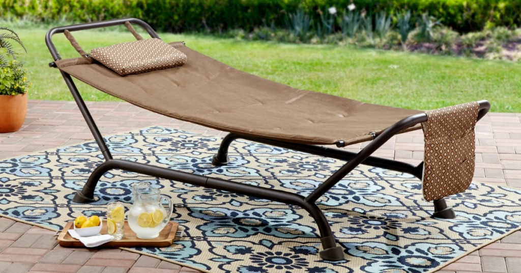 hammock with stand on area rug