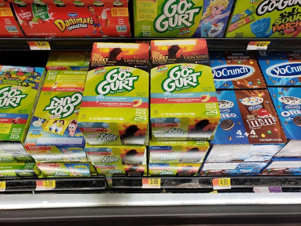yoplait gogurt value pack in walmart cooler shelf