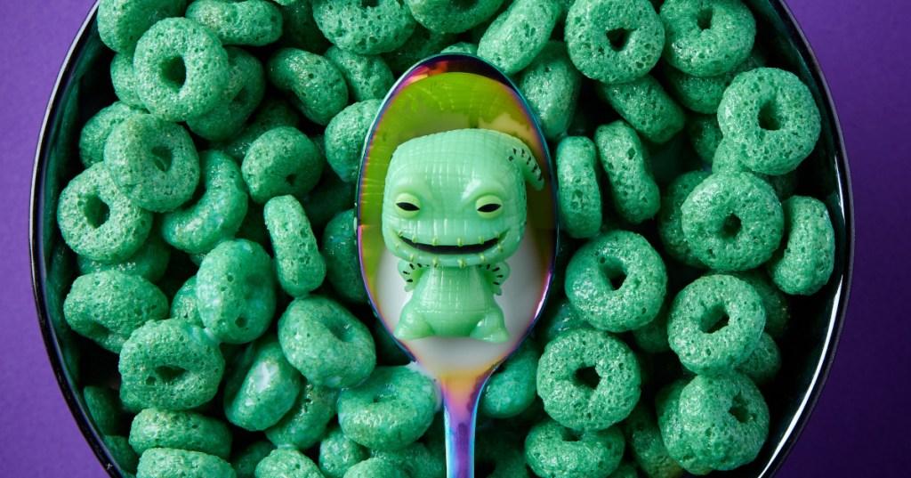 Oogie Boogie figurine in green cereal