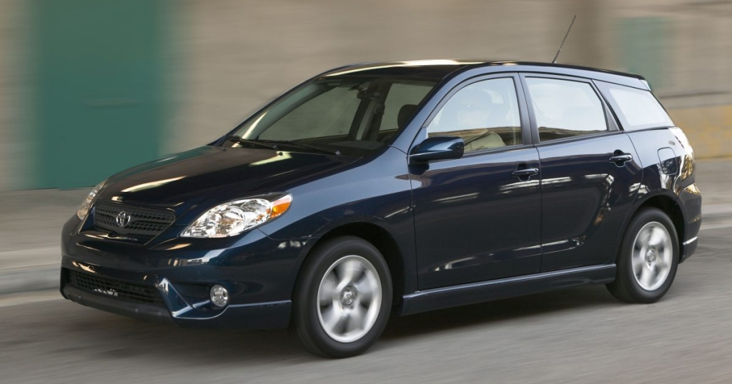 black Toyota Matrix
