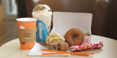 The Dunkin' Fall Menu is NOW Available | Cinnamon Sugar Pumpkin Signature Latte & More