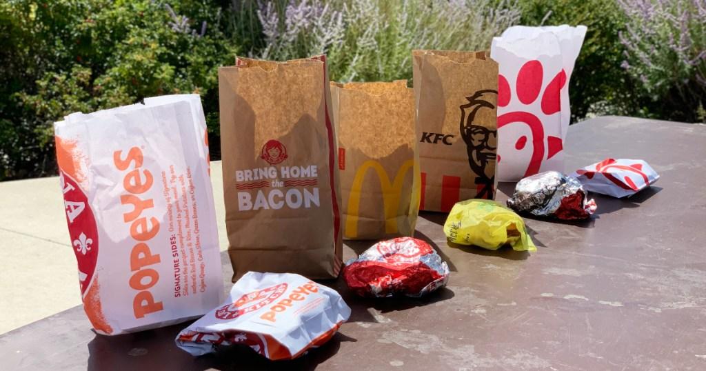 fast food chicken sandwich lineup