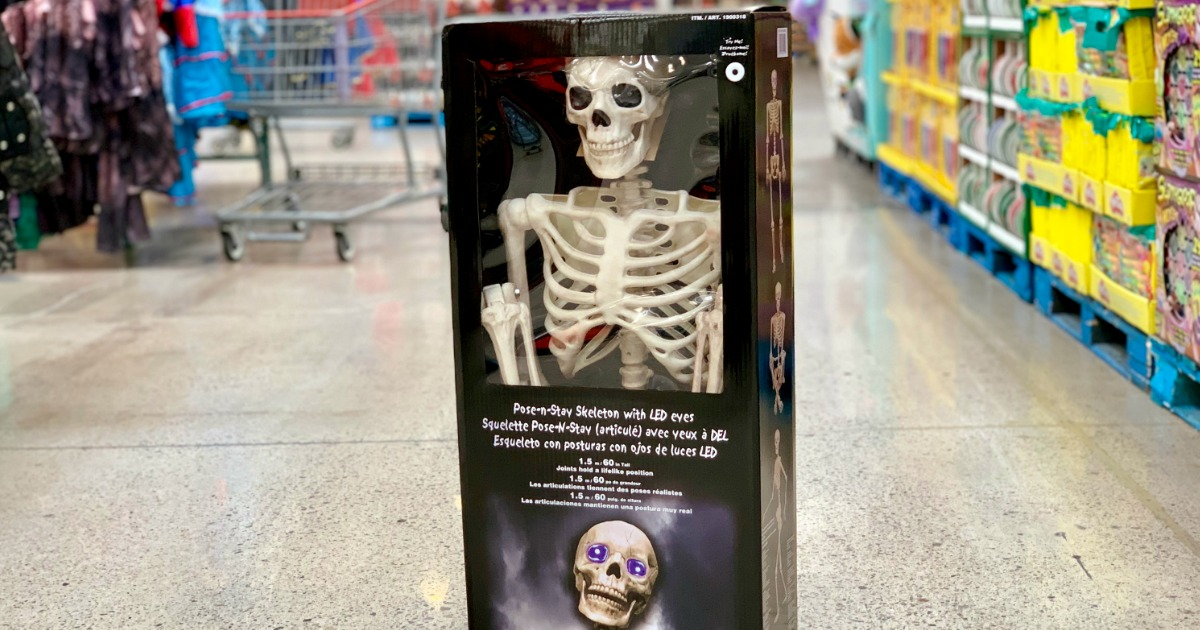 skeleton in box at Costco