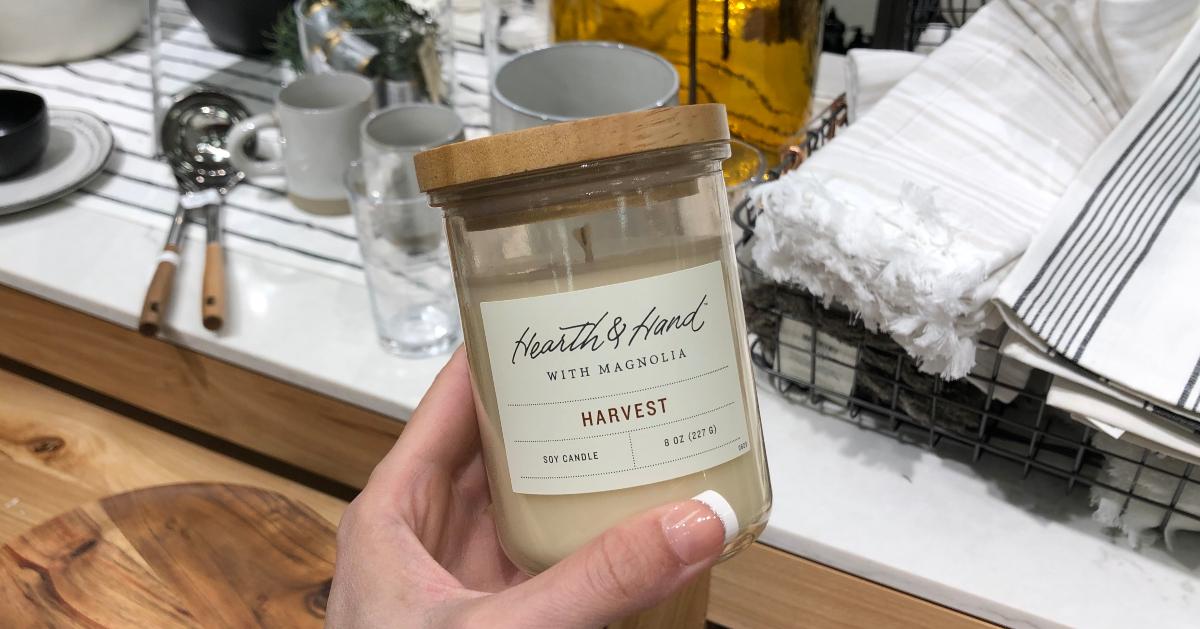 Hearth & Hand Lidded Jar Soy Candle
