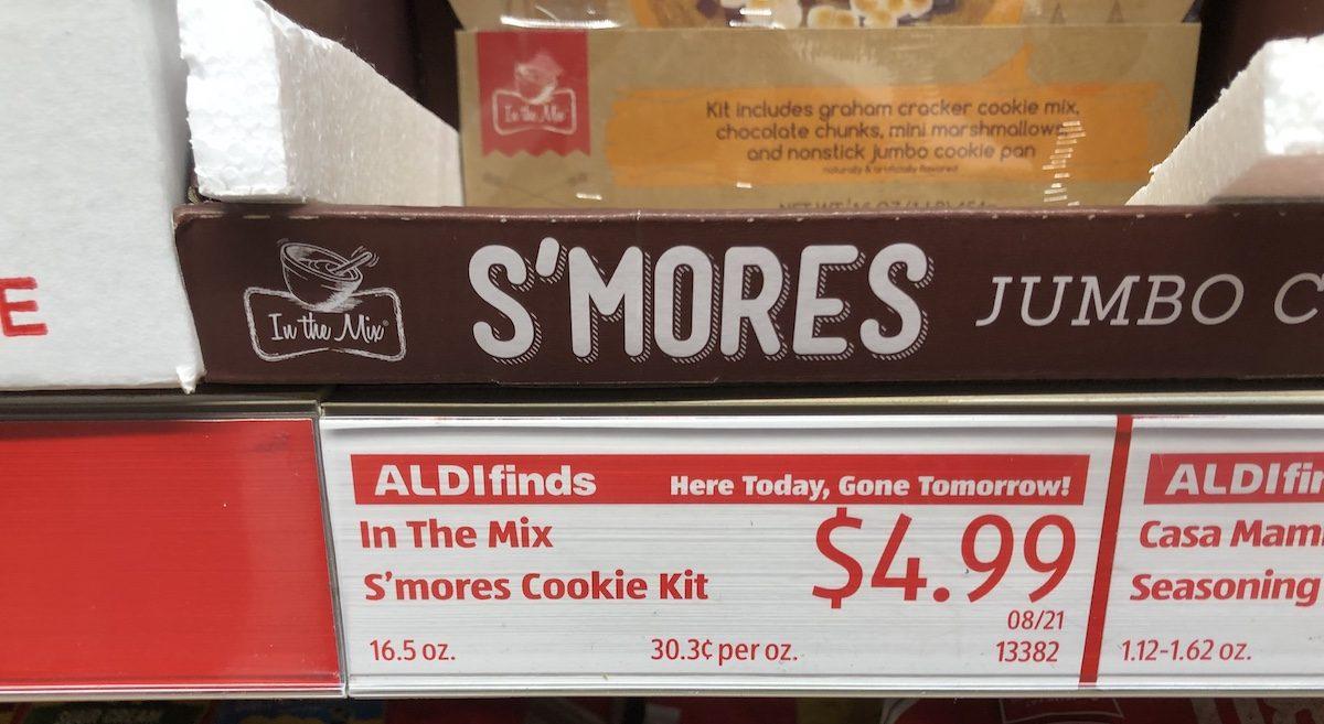 S Mores Jumbo Cookie Kits Now At Aldi Includes Nonstick Jumbo