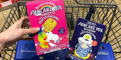 FUN Unicorn or Galaxy Pancake Mixes Only $2.99 at ALDI