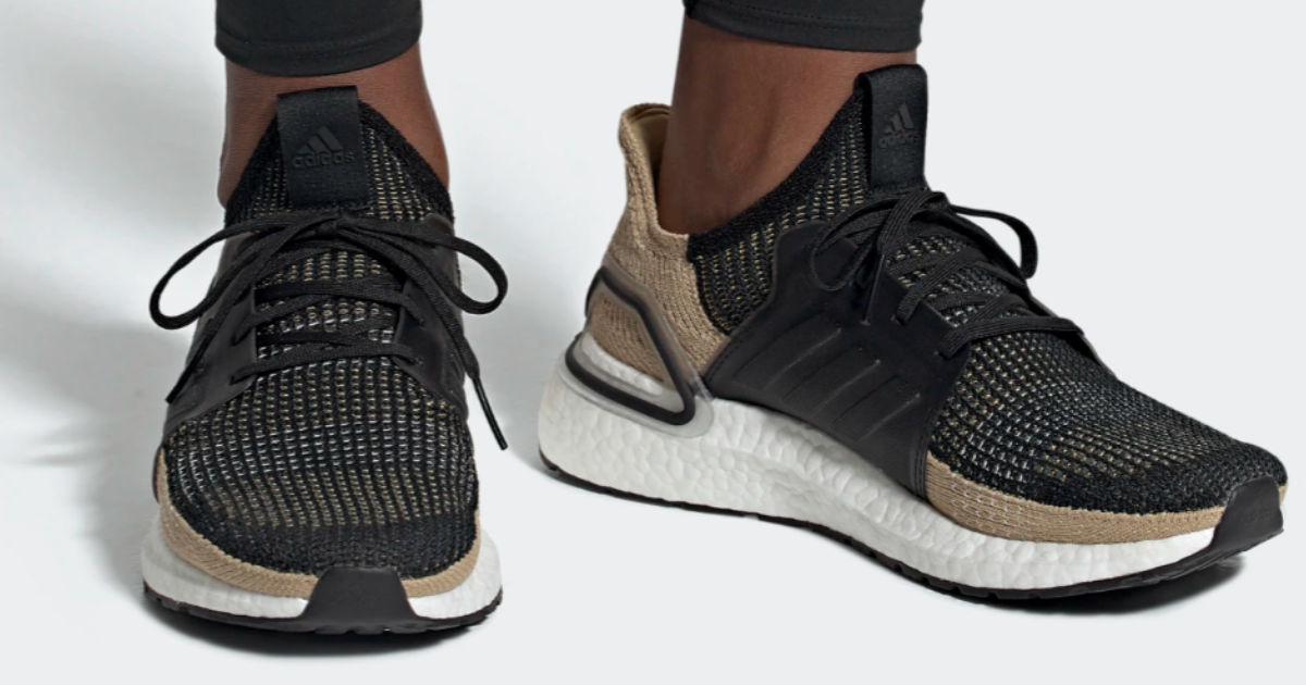 Adidas ultraboost running shoes in brown and black