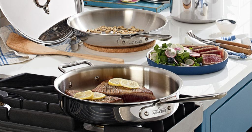 All-Clad Stainless Steel 7-Pc. Cookware Set