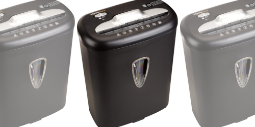 AmazonBasics Paper & Credit Card Shredder Only $27.58 Shipped on Amazon