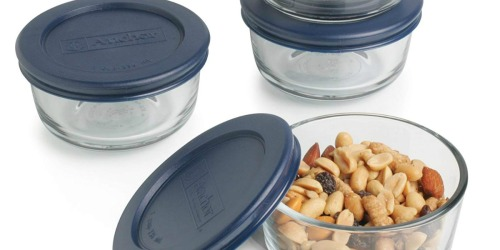 Four Anchor Hocking 1-Cup Glass Containers w/ Lids Only $6.96 on Amazon (Just $1.74 Each) + More