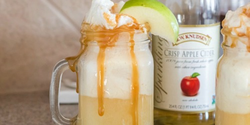 3-Ingredient Apple Cider Ice Cream Float Recipe