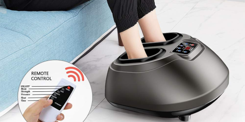 Foot Massager w/ Heat & Remote Control Only $75.99 Shipped on Amazon | Great for Achy Feet