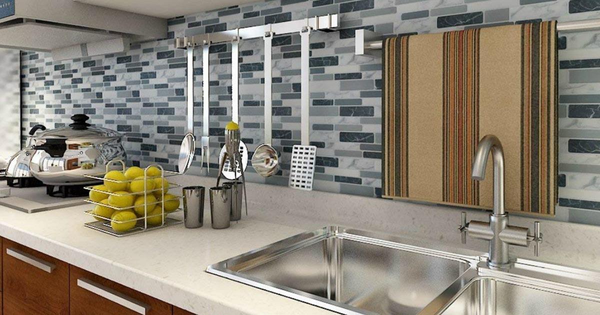 Magnificent Up To 35 Off Art3D Peel Stick Backsplash Tiles At Home Download Free Architecture Designs Ogrambritishbridgeorg