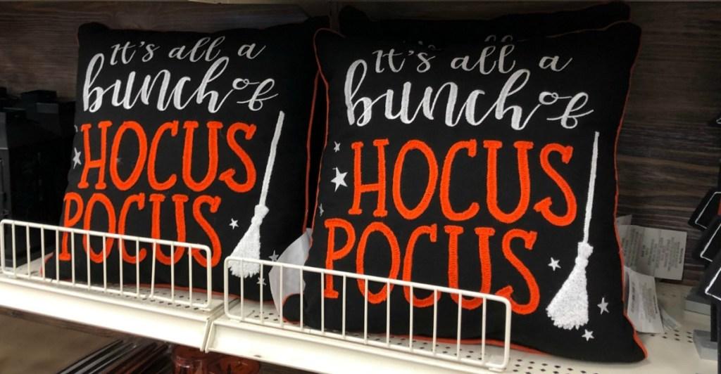 "Halloween throw pillow ""it's just a bunch of Hocus Pocus"""
