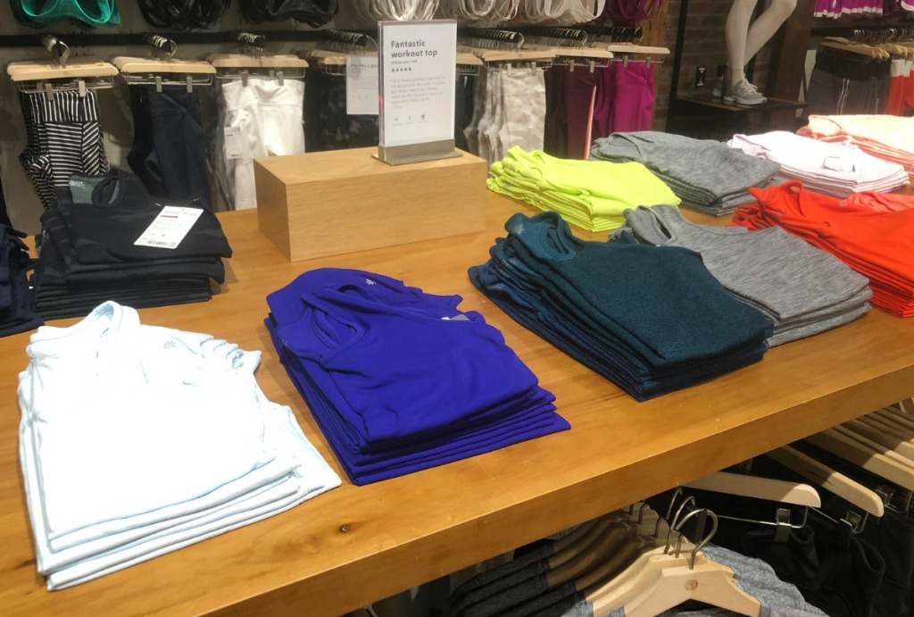 Athleta Women's tank Tops on display at Athleta store