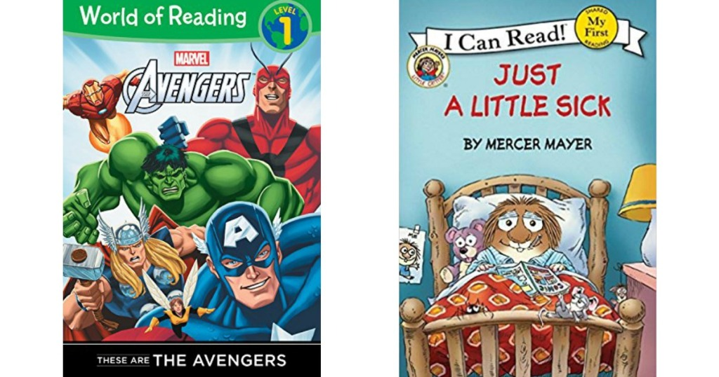 Avengers and Little Critters book covers