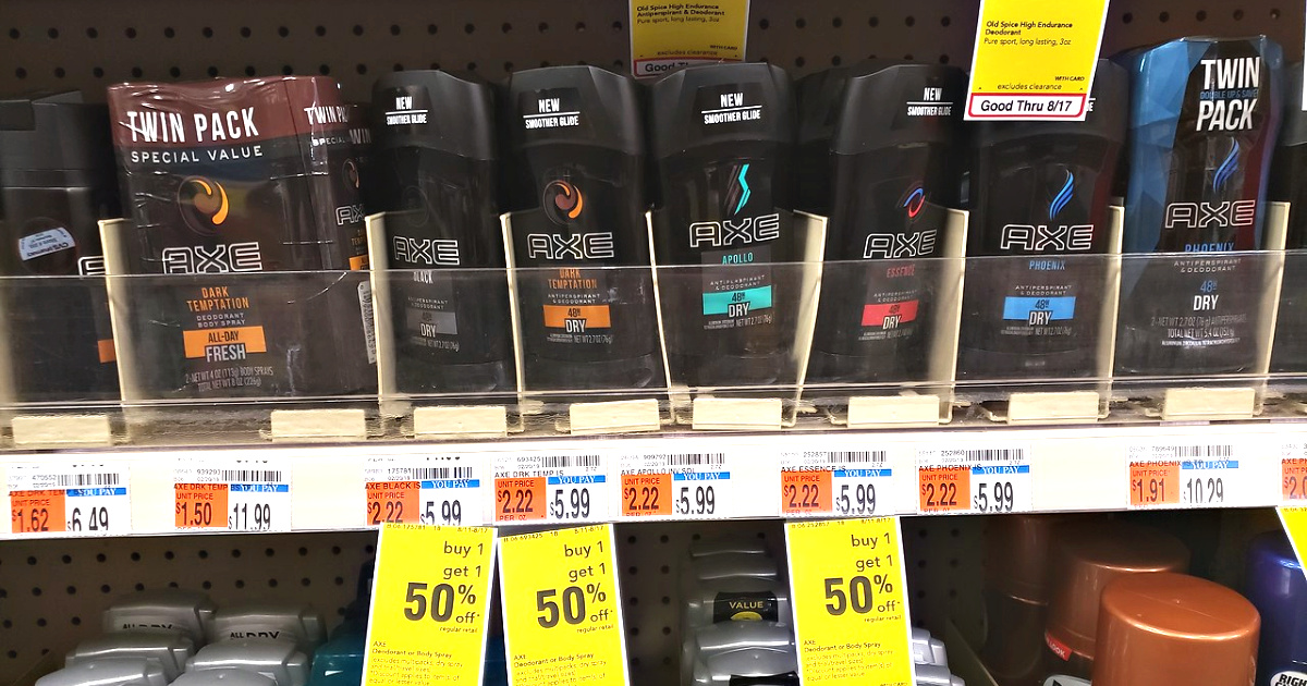 axe products on shelf at cvs