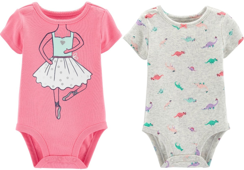 Girl's Bodysuits from Carter's with Dinosaurs and Ballerina