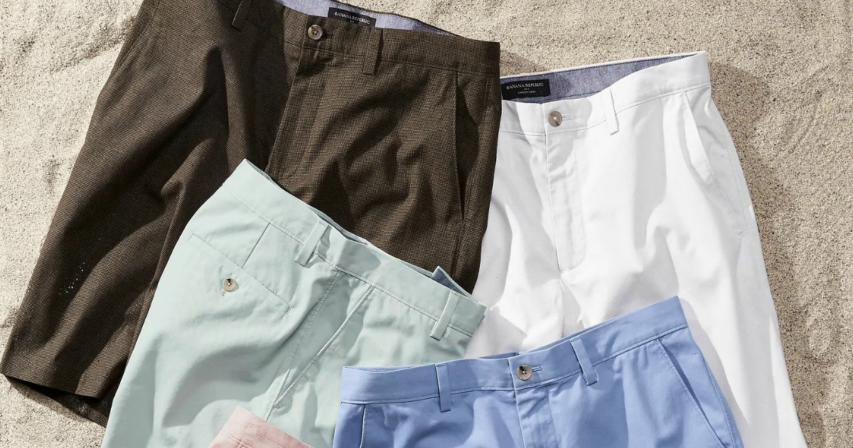 Men's Shorts from Banana Republic Factory in various colors in the sand