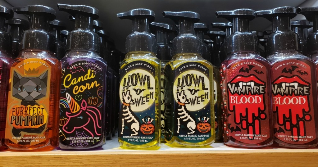 halloween themed bath and body works hand soaps
