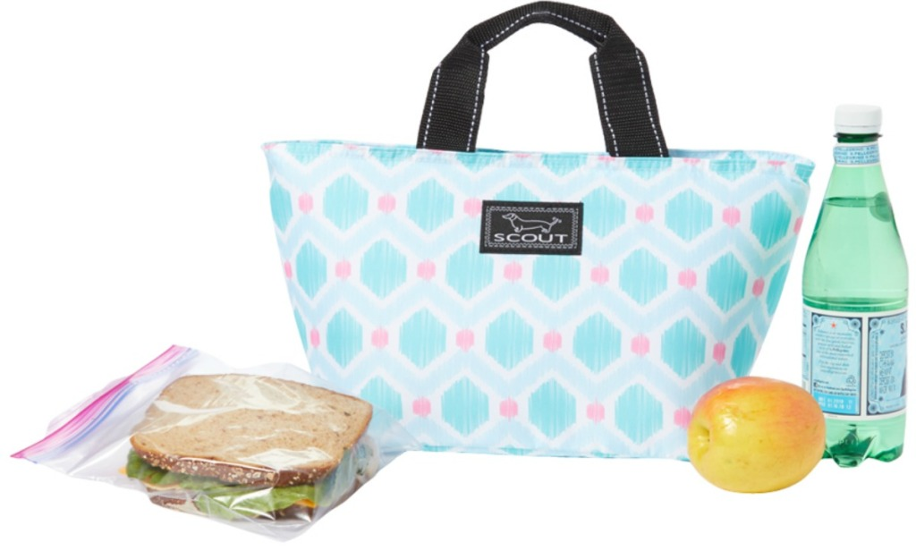 SCOUT Bags brand lunch bag with water and sandwich