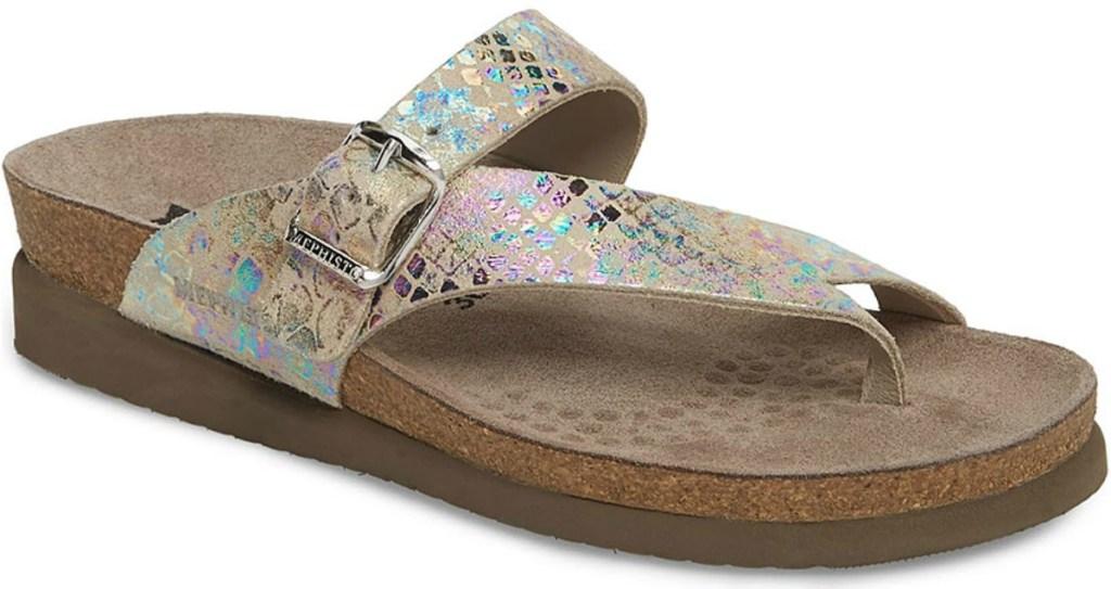 Metallic sandals from Mephisto on Zulily