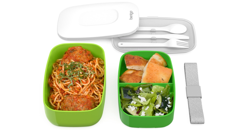 green bento lunch box