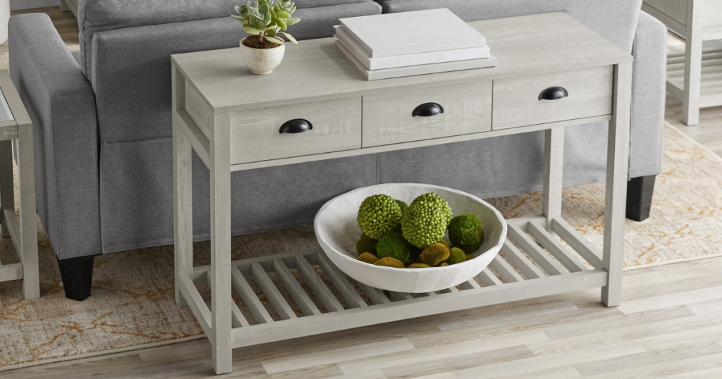 Better Homes & Gardens Kent Console Table with 3 Drawers