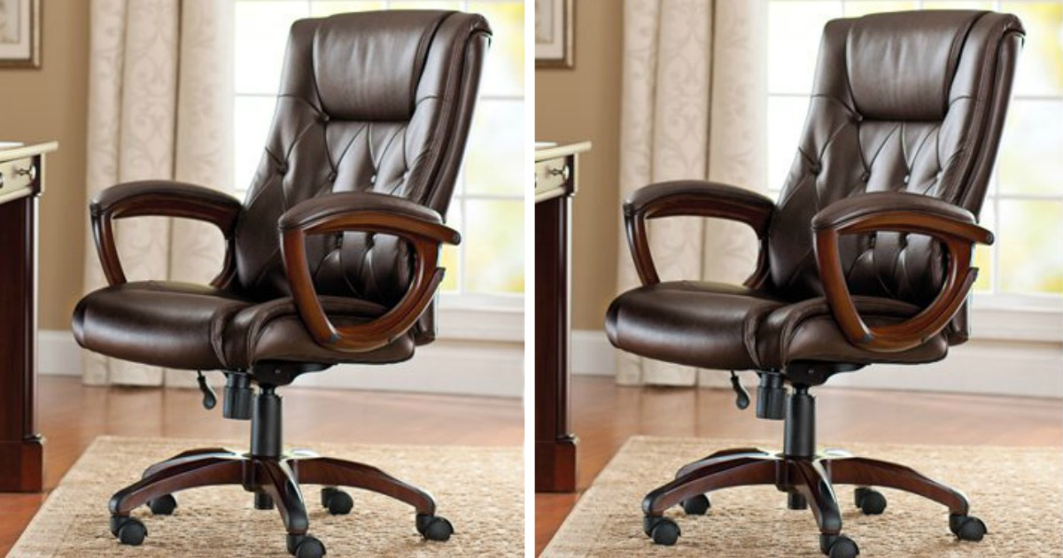 Better Homes Gardens Leather Office Chair Only 51 69 Shipped At Walmart Regularly 139