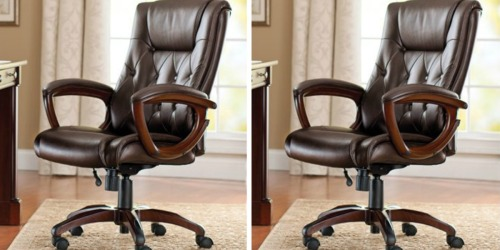 Better Homes & Gardens Leather Office Chair Only $51.69 Shipped at Walmart (Regularly $139)