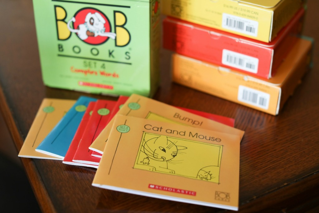 BOB Books Set 4 with books on table